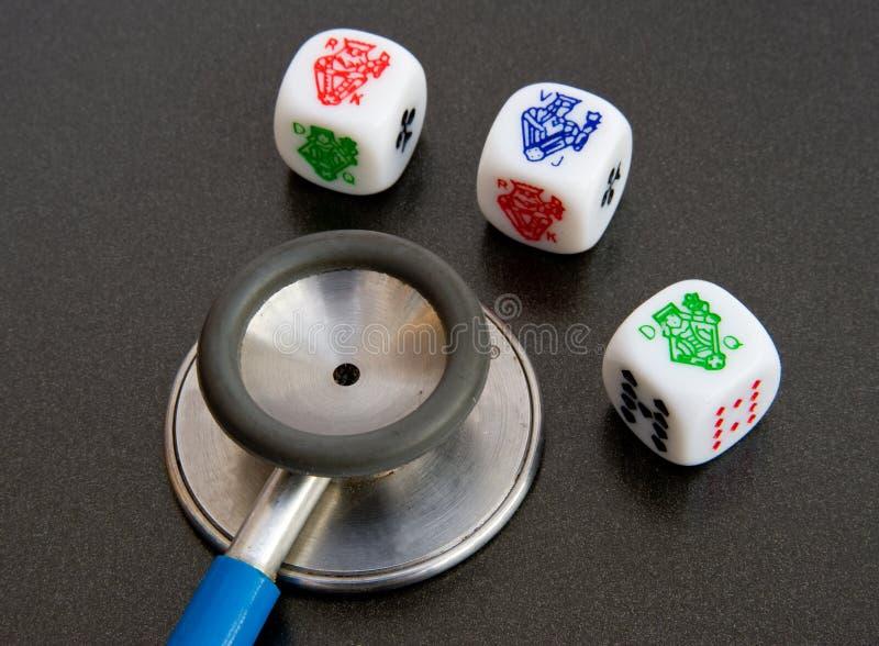 Rischio per la salute? Giocando con la vostra salute. immagine stock libera da diritti