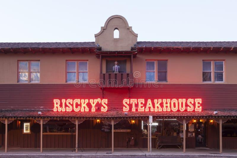 Risckys Steakhouse in Fort Worth Texas, USA stockbilder