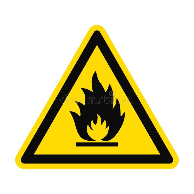 Risco de fogo do perigo ilustração royalty free