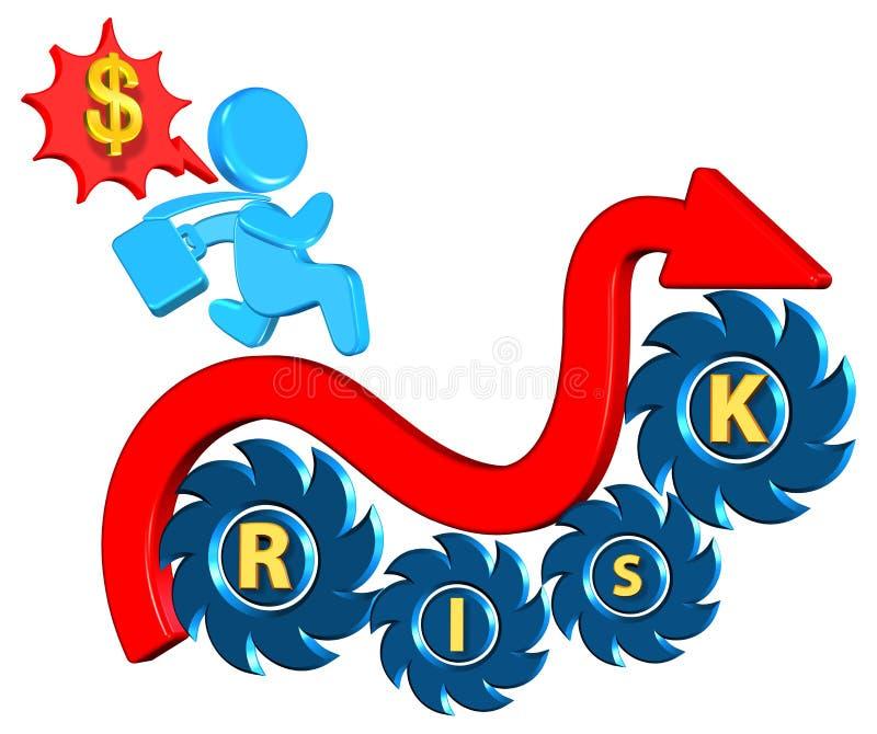 Risco de investimento ilustração stock