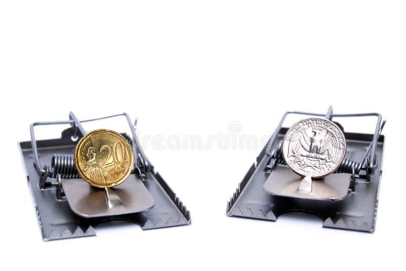Risco de moeda imagens de stock royalty free