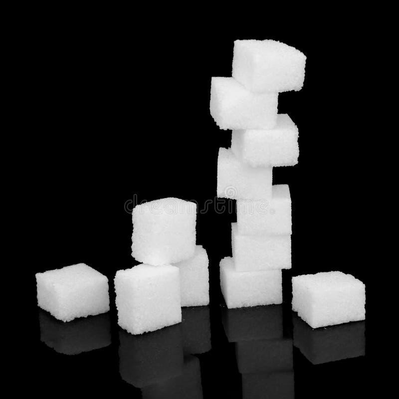 Risco do açúcar branco fotografia de stock royalty free