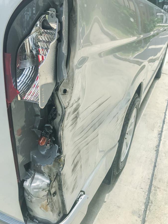 Risco do carro lateral no acidente imagem de stock royalty free