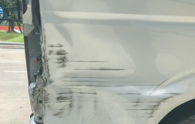 Risco do carro lateral no acidente foto de stock