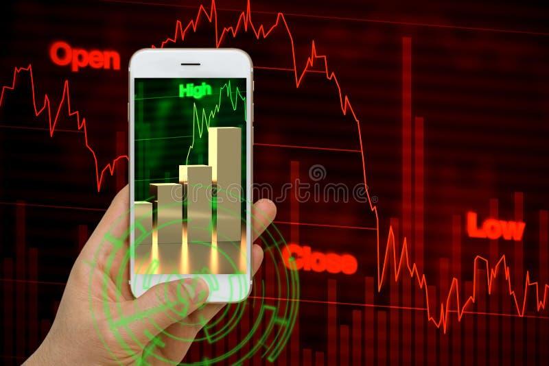 Risco e conceito da oportunidade no investimento do mercado de valores de ação fotos de stock royalty free