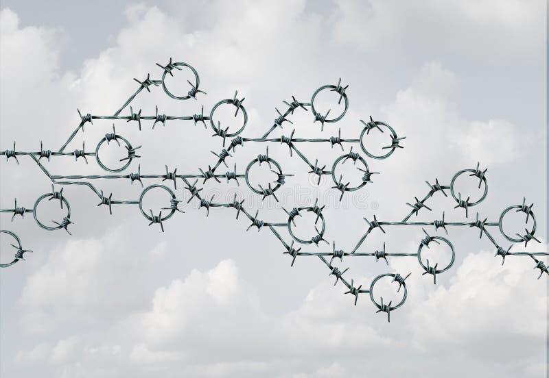 Risco e segurança da tecnologia ilustração do vetor