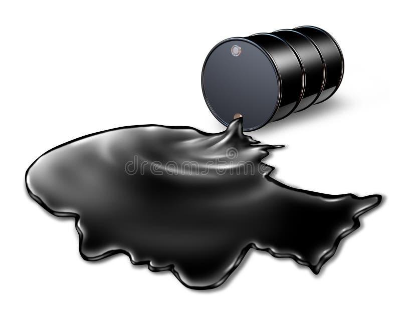 Risco para a saúde do derramamento de óleo ilustração royalty free