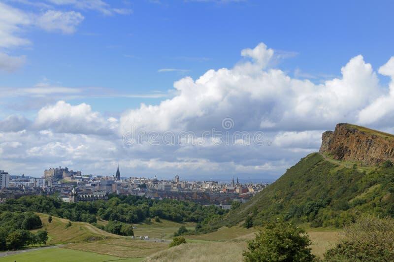 Riscos de Edimburgo y de Salisbury imagenes de archivo