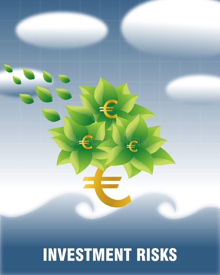 Riscos de investimento (Euro) foto de stock royalty free