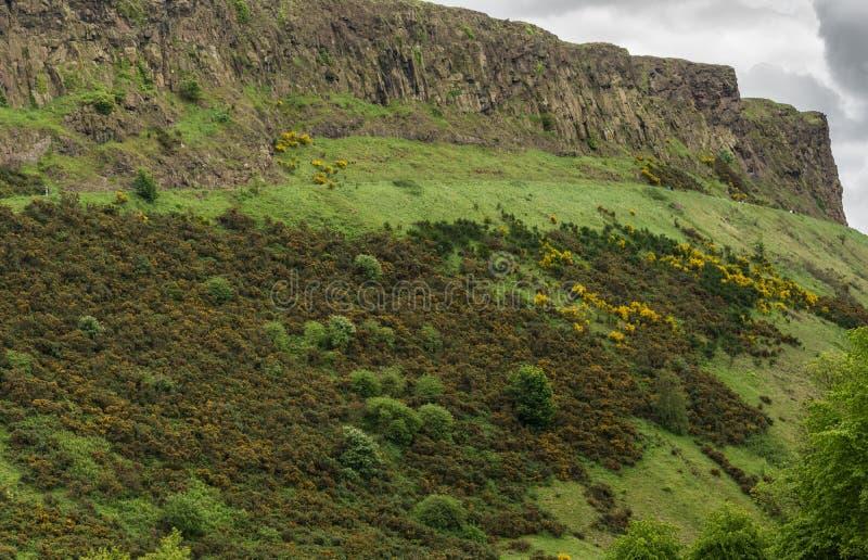 Riscos de Salisbury en Edimburgo, Escocia, Reino Unido imagen de archivo