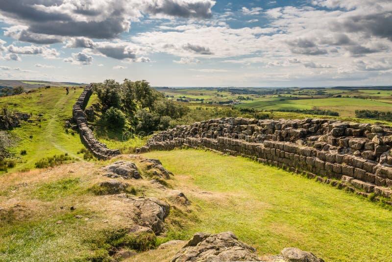 Riscos de Walltown en la pared de Hadrians imágenes de archivo libres de regalías