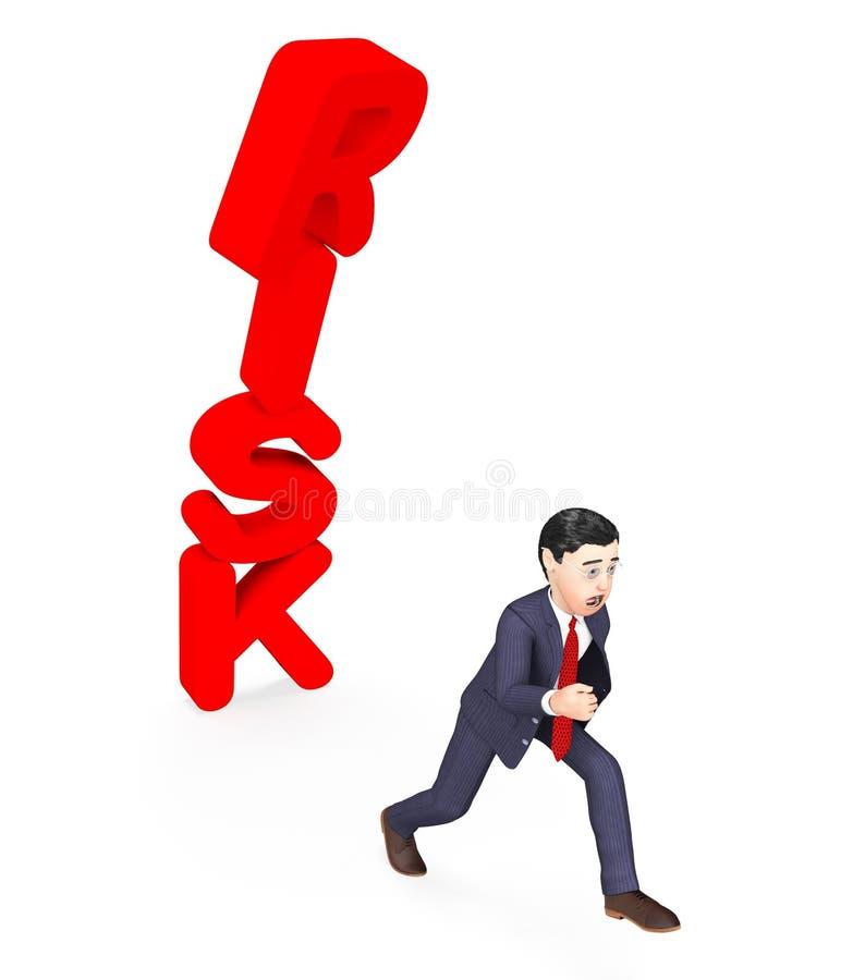 Riscos e perigo do comércio de Avoiding Risk Represents do homem de negócios ilustração do vetor
