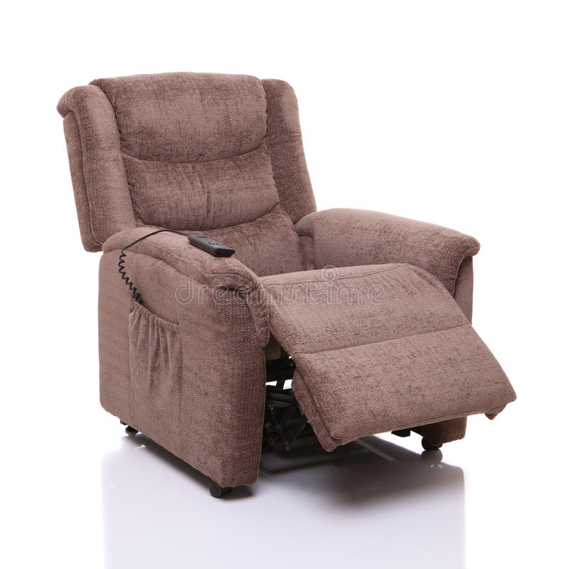 Free Rise And Recline Chair, Partially Reclined. Stock Image - 27128111