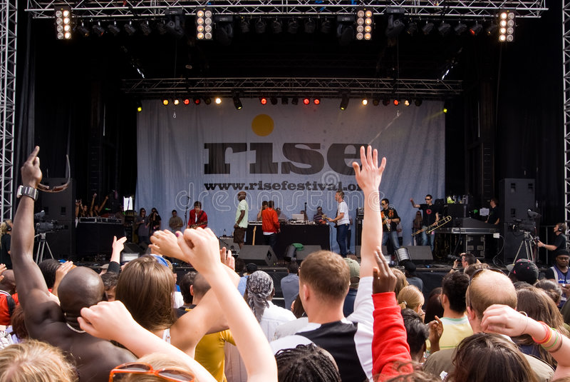 Rise Festival, London. July 2008. royalty free stock image