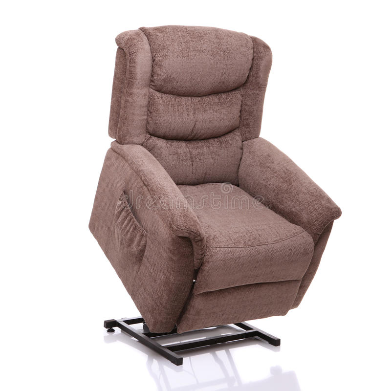 Rise and recline chair, fully lifted. stock image