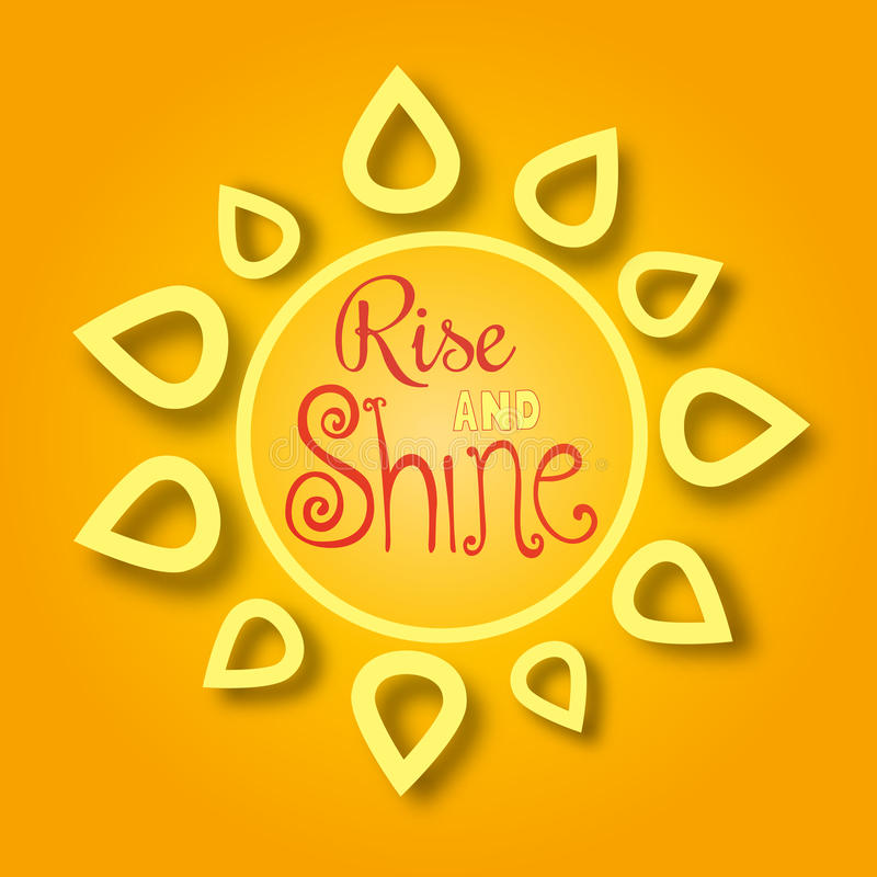 Rise and shine vector illustration