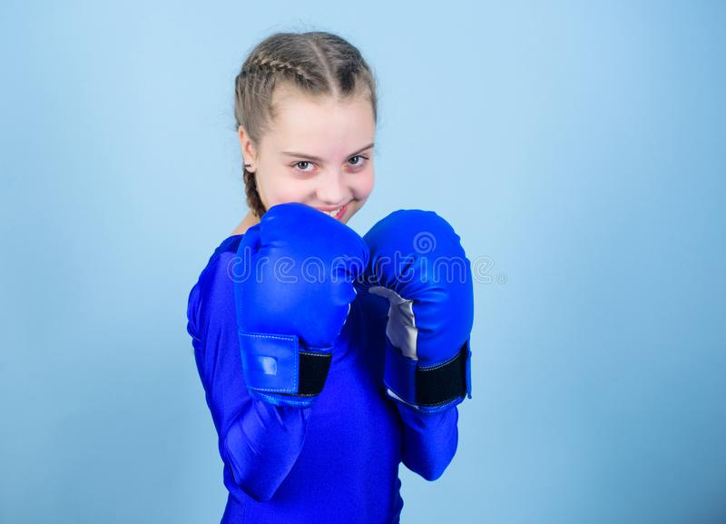 Rise of women boxers. Female boxer change attitudes within sport. Feminism concept. With great power comes great. Rise of woman boxers. Female boxer change royalty free stock photography