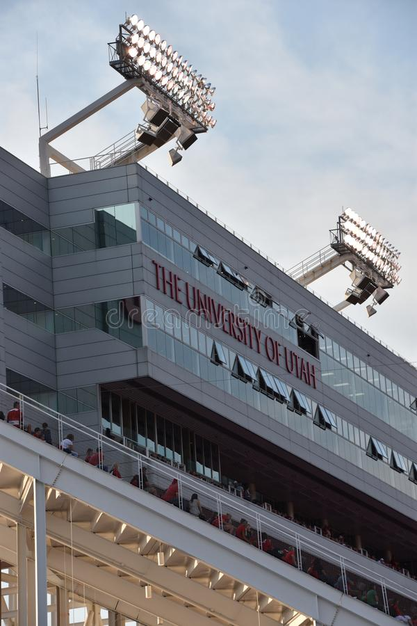 RisEccles stadion i Salt Lake City, Utah arkivbild