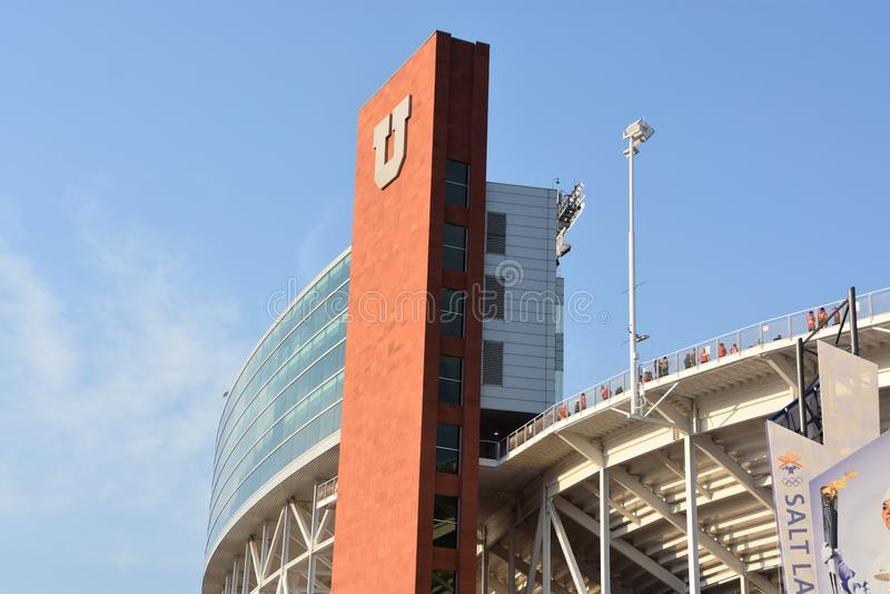 RisEccles stadion i Salt Lake City, Utah royaltyfria bilder