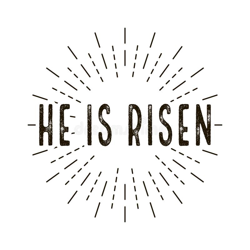 He is risen. celebration day. Happy Easter day royalty free illustration