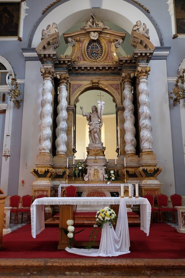 Risen Christ, altar in Franciscan church in Dubrovnik. Risen Christ, altar in Franciscan church of the Friars Minor in Dubrovnik, Croatia stock photo