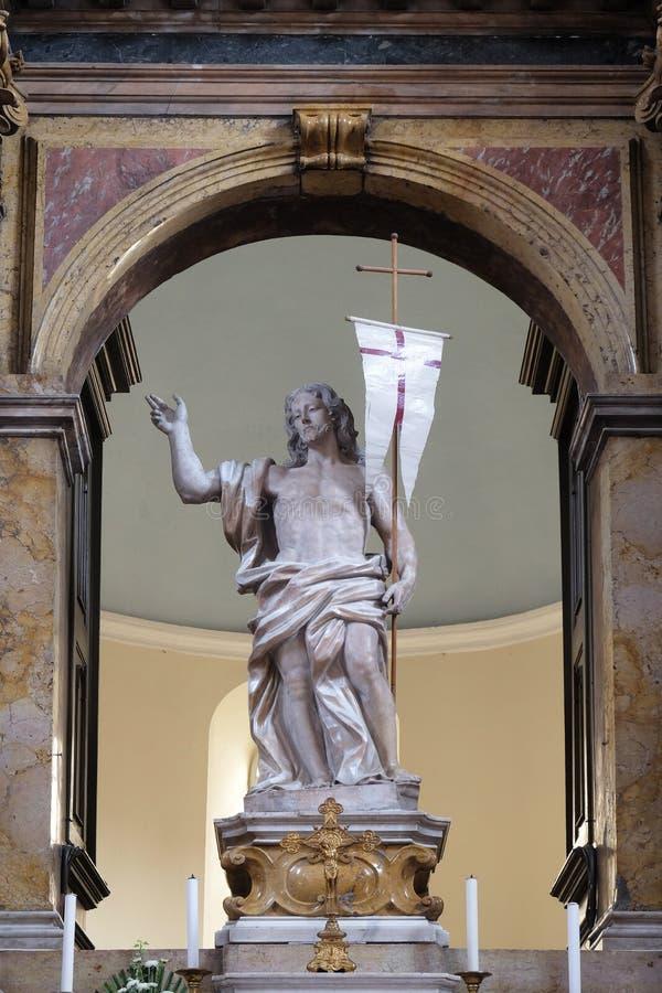 Risen Christ. Altar in Franciscan church of the Friars Minor in Dubrovnik, Croatia stock image