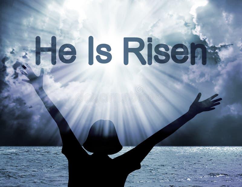 He is risen stock image