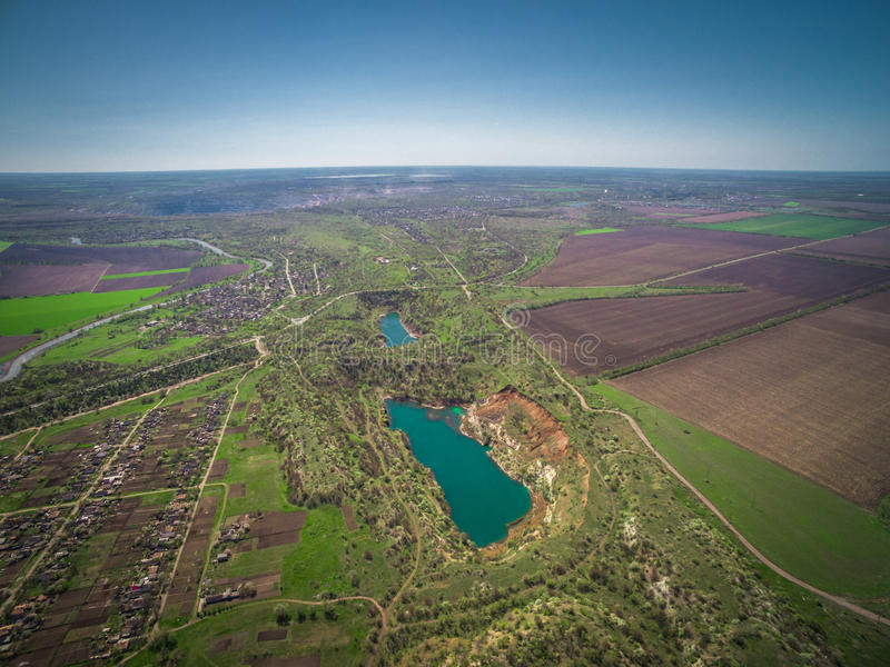 Riserva del lago quarry immagine stock libera da diritti
