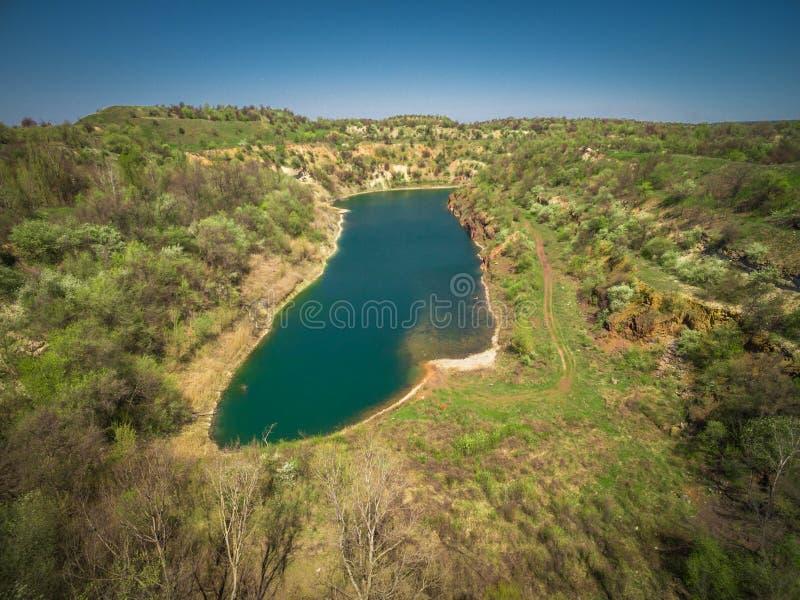 Riserva del lago quarry fotografia stock libera da diritti