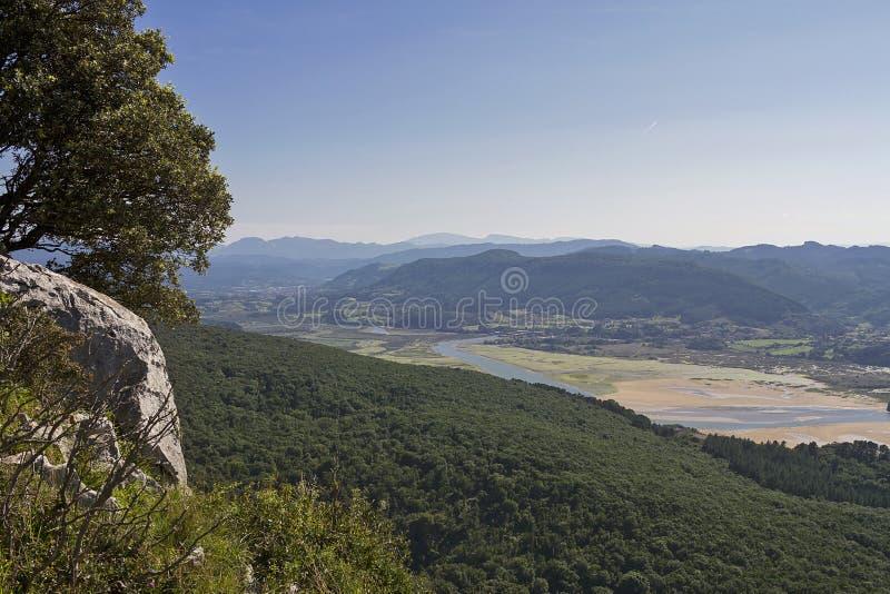 Riserva di biosfera di Urdaibai fotografia stock
