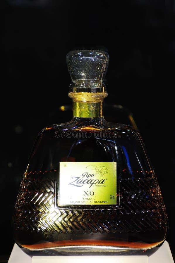 Riserva di Solera Gran del rum di Ron Zacapa Centenario XO immagine stock libera da diritti