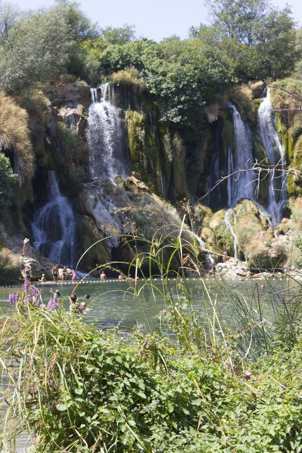 Riserva naturale delle cascate di Kravica in Bosnia-Erzegovina immagine stock libera da diritti