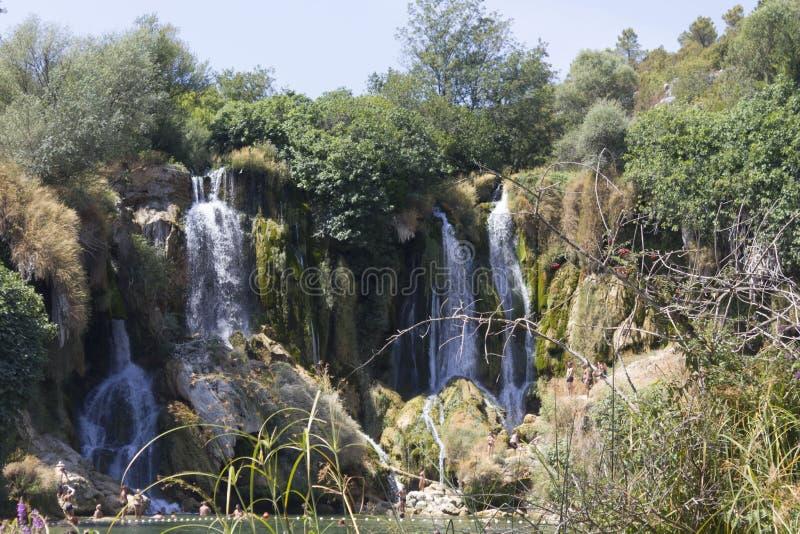 Riserva naturale delle cascate di Kravica in Bosnia-Erzegovina fotografia stock libera da diritti