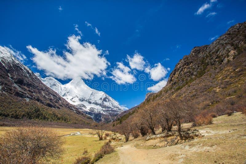 Riserva naturale di Yading fotografia stock libera da diritti