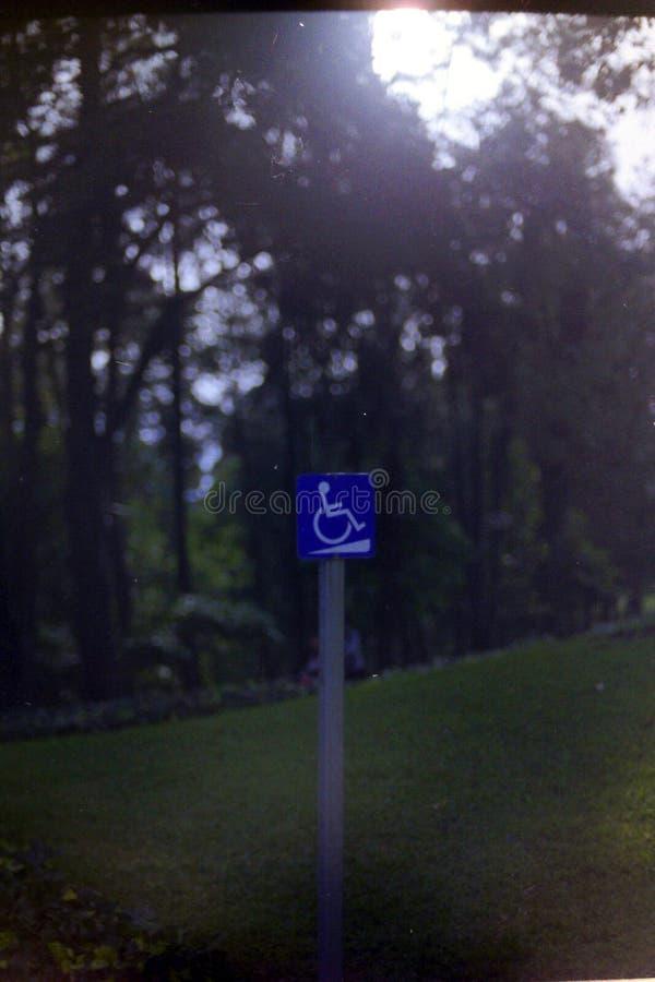 Riservato soltanto agli handicappati fotografia stock
