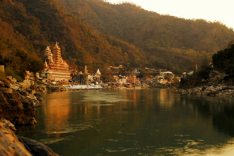 Rishikesh stockfotos