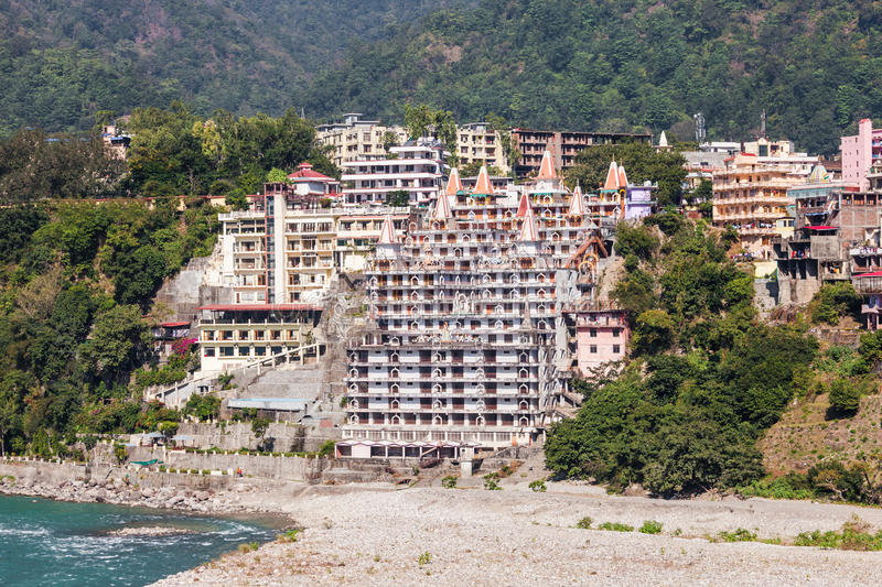 Rishikesh in India stock image