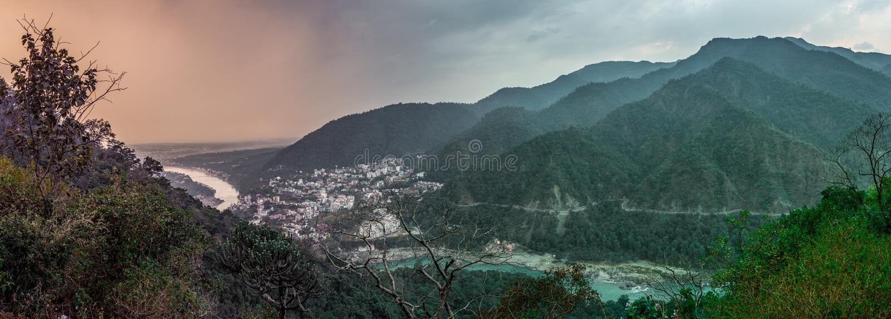 Rishikesh, Indien stockbilder