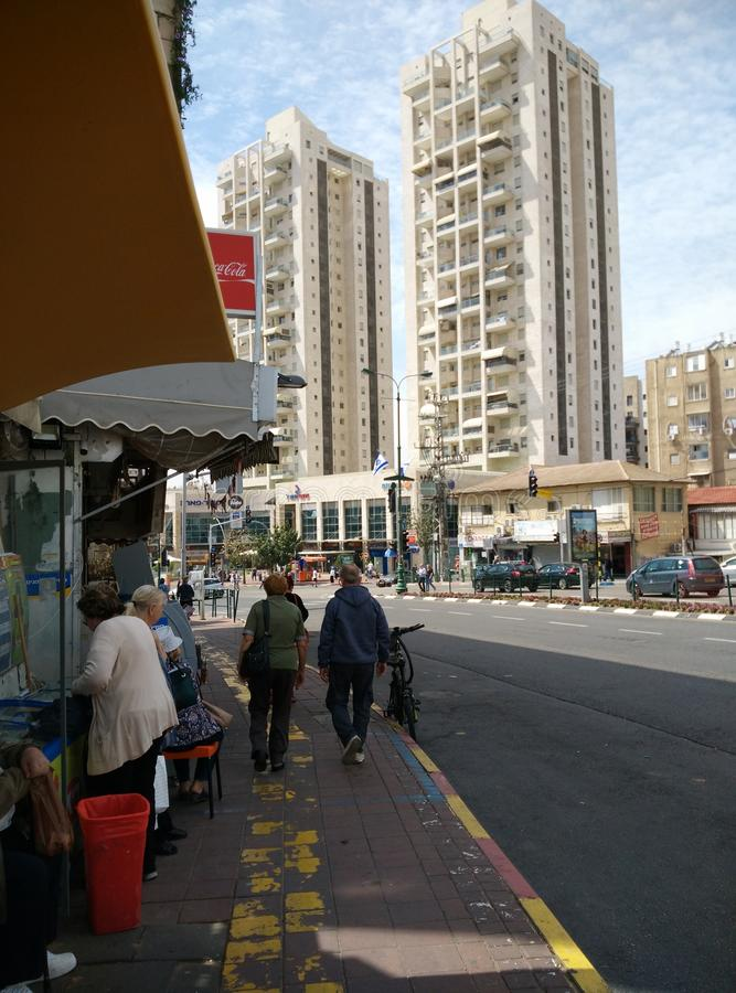 Rishon le zion gata, Israel royaltyfria bilder