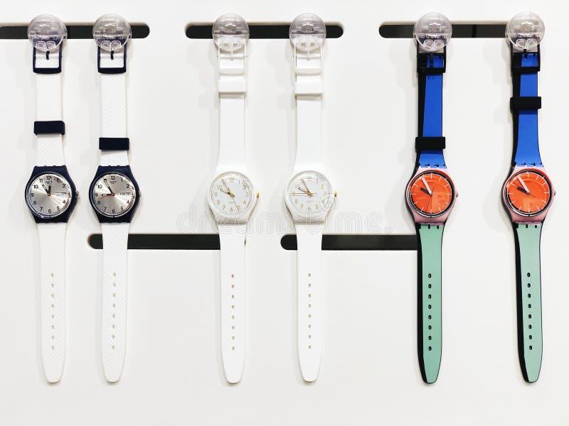 RISHON LE ZION, ISRAEL 17. DEZEMBER 2017: Uhruhren herausgestellt in einem Speicher lizenzfreies stockbild