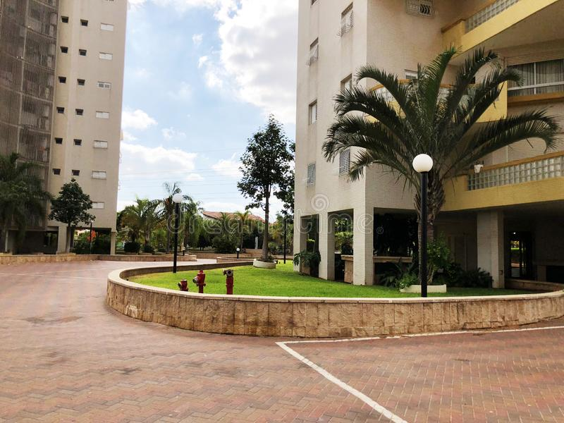 RISHON LE ZION, ISRAEL  October 07, 2019: Residential buildings and plants in Rishon Le Zion, Israel royalty free stock image