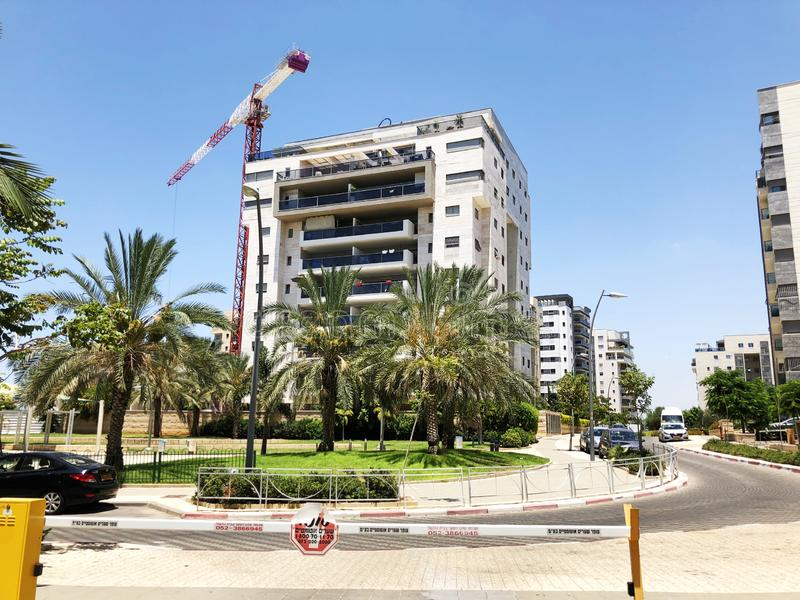 RISHON LE ZION, ISRAEL  October 07, 2019: Residential buildings and plants in the streets of Rishon Le Zion, Israel stock photos
