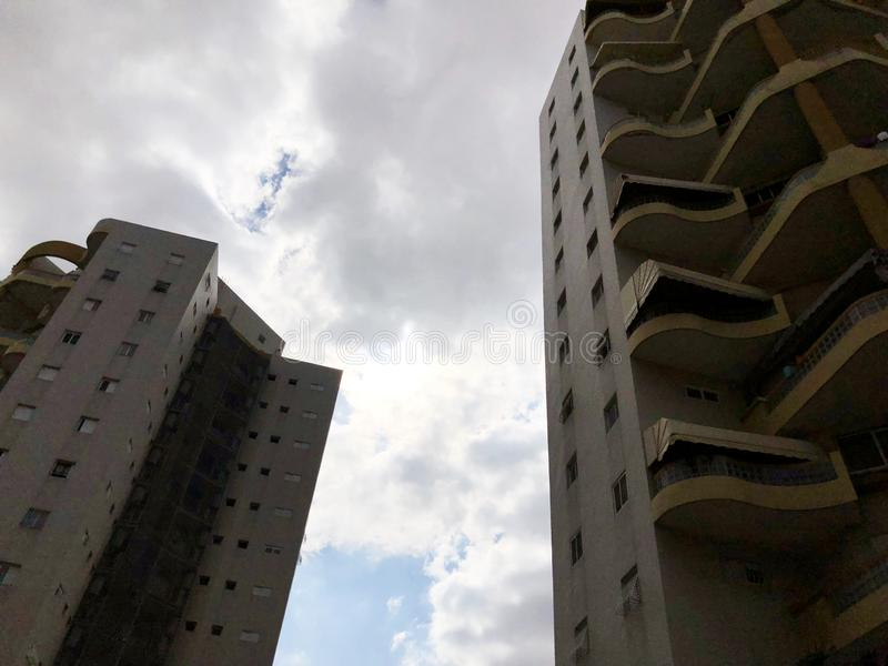 RISHON LE ZION, ISRAEL  October 07, 2019: Residential buildings  view from the bottom  in Rishon Le Zion, Israel stock photo