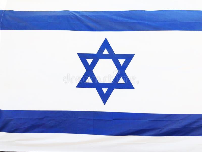 RISHON LE ZION, ISRAELE - 27 giugno 2018 la bandiera nazionale di Israele in Rishon Le Zion, Israele immagine stock libera da diritti