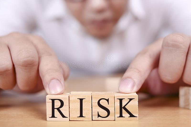 Risico, Bedrijfsethiek Motieven Inspirational Citaten royalty-vrije stock foto