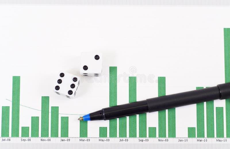 Risico in Effectenbeurs royalty-vrije stock foto