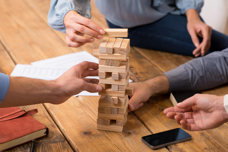 Risico en strategie in zaken stock foto
