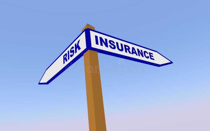 Risico en Verzekering stock illustratie