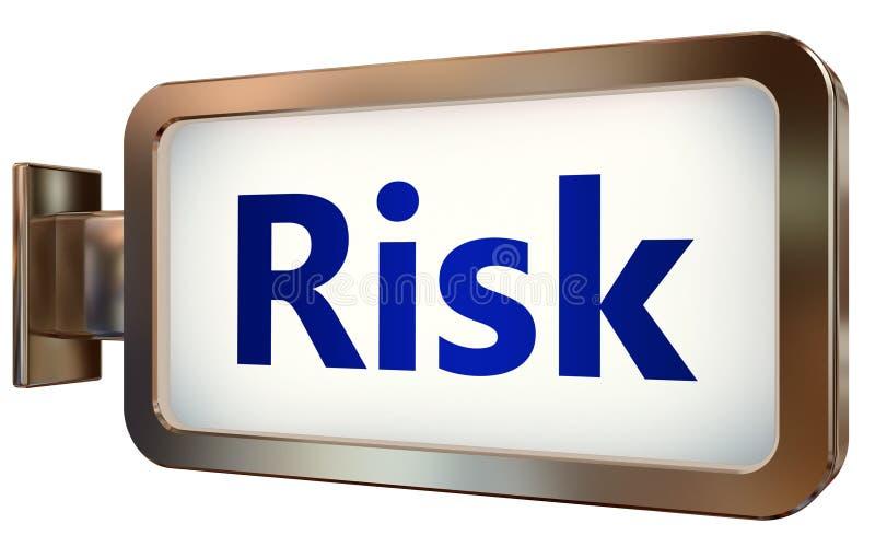 Risico op aanplakbordachtergrond stock illustratie
