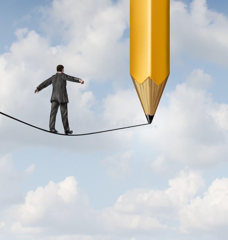 Risico Planning royalty-vrije illustratie